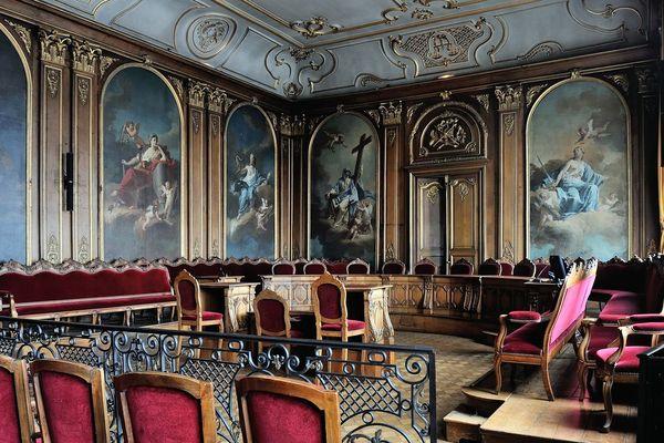L'une des salles de la Cour d'assises de Douai (Nord).