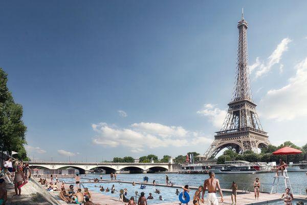 Le Trocadéro est l'un des 26 sites de baignade retenus sur la Seine et sur la Marne.