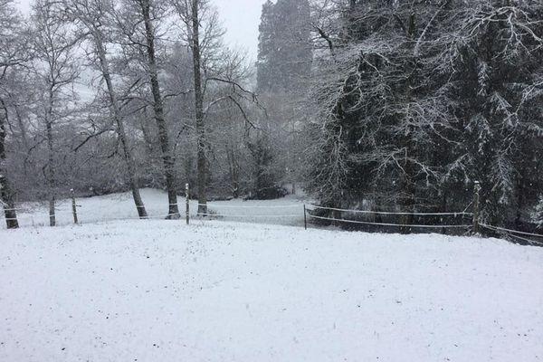 Neige à Rilhac Rancon le 22.01.2019