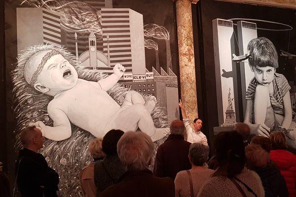 L'exposition de AL, artiste montpelliérain urbain expose au carré Saint-Anne - novembre 2017