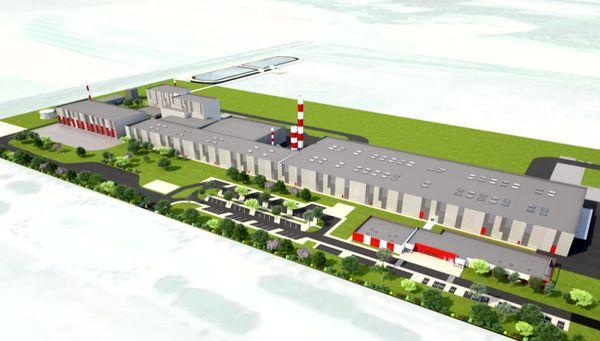 Modélisation de la potentielle future usine de Rockwool à Courmelles.