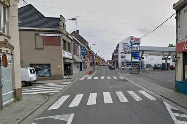 L'accident s'est produit Grand Rue à Mouscron, près du carrefour avec la rue Saint-Antoine