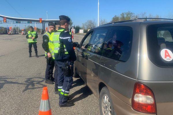 contrôles autoroutiers près de Montauban