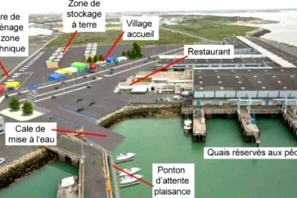 La maquette du futur port à sec à Chef de Baie