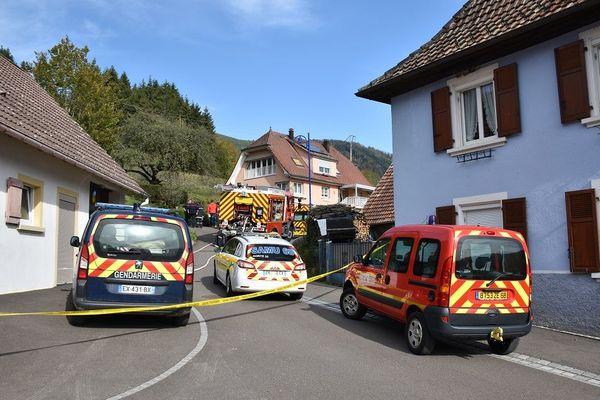 Samu, pompiers et gendarmerie sur les lieux de l'accident