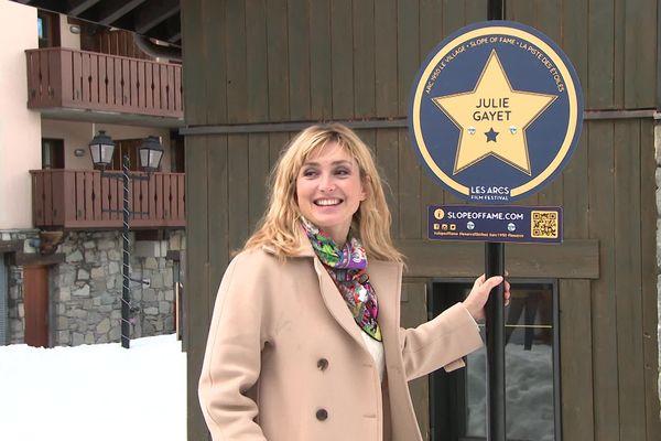 Julie Gayet, invitée du Festival, a dévoilé son étoile sur la Piste aux Etoiles des Arcs.