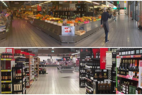 Au marché comme au supermarché, les clients se font rares