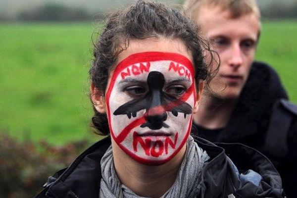 Visage emblématique lors de la manifestation du 17 novembre à Notre-Dame-des-Landes
