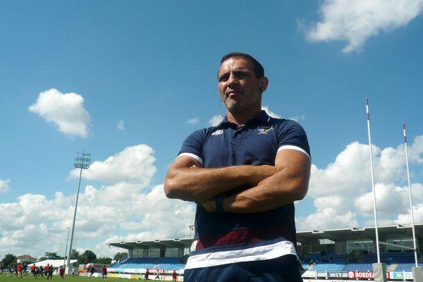 Raphael Ibanez, le 18 août 2015 au stade André Moga de Bègles