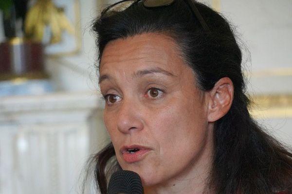 Emmanuelle Ajon lors de la conférence de presse de rentrée à la mairie de Bordeaux - Septembre 2020 -
