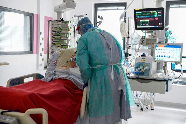 Dans le secteur Covid du service réanimation de l'hôpital d'Orléans, en avril 2020.