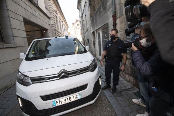 Nicolas Zepeda arrive au palais de justice de Besançon le 30 septembre 2020.