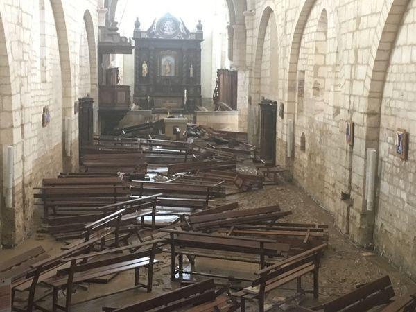 L'abbaye du 12ème siècle de Chancelade ravagée par les eaux