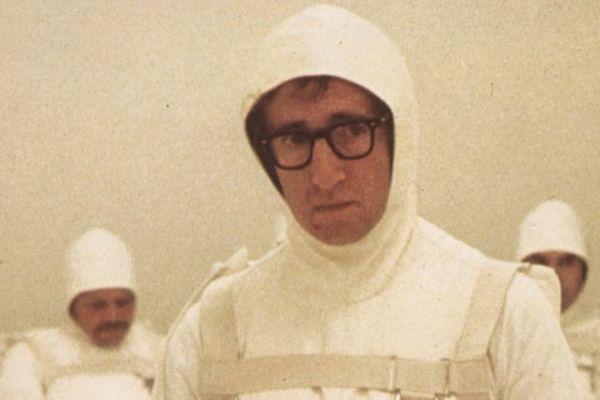 """""""Tout ce que vous avez toujours voulu savoir sur le sexe (sans jamais oser le demander)"""", film de 1972. Woody Allen, dans le rôle d'un spermatozoïde prêt à partir en mission."""