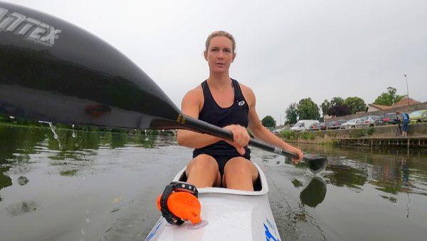 """La jeune championne a ses habitudes d'entraînement sur l'Isle, un parcours """"un peu étroit"""", mais qui lui convient parfaitement"""