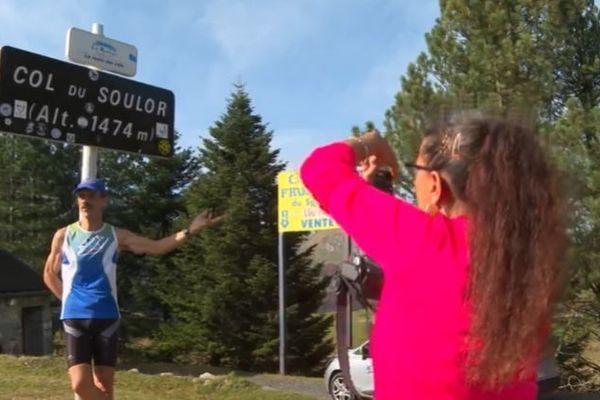 A l'arrivée au col du Soulor à 1474 m d'altitude, la retro course aura duré 1 heure et 58 minutes.
