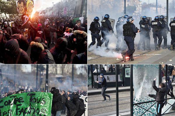 Les heurts et dégradations hier à Nantes