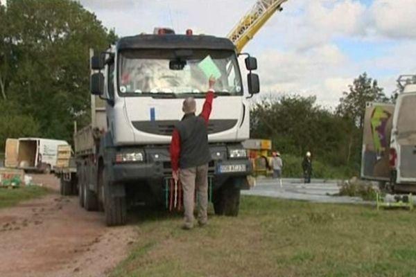 Maître Gervais Marie-Doutressoulle bloque le chantier de RTE mercredi 26 septembre