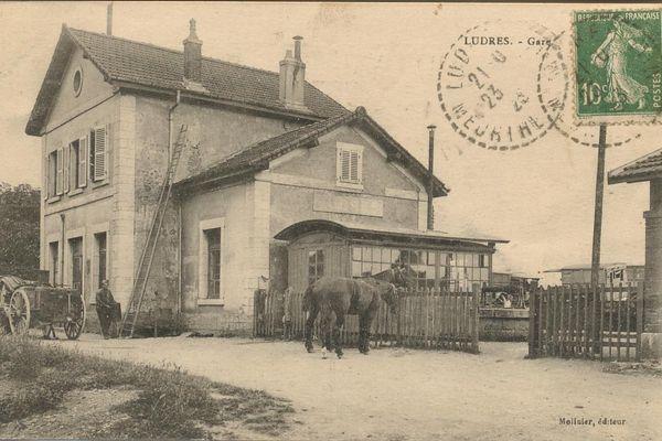La gare de Ludres avant sa destruction.