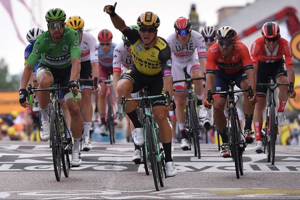 Le Néerlandais Dylan Groenewegen remporte l'étape du Tour de France entre Belfort et Chalon-sur-Saône