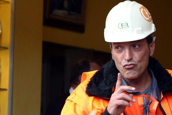 """Edouard Martin a mené la lutte pour la CFDT pendant les dix-huit mois du conflit avec Mittal. Il a qualifié le Premier ministre Jean-Marc Ayrault de """"traitre"""" lorsqu'il a appris sa décision d'acter l'arrêt des hauts fourneaux d'Hayange."""