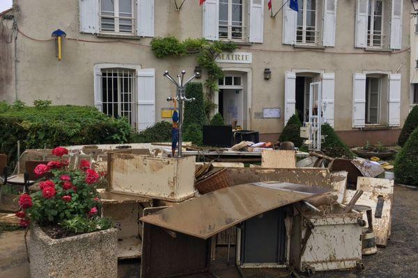 Le village de Bellot, après les inondations, le 6 juin 2018