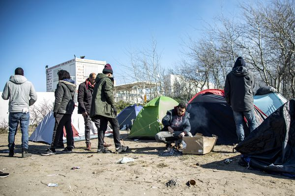 Un camp de migrants à Calais.