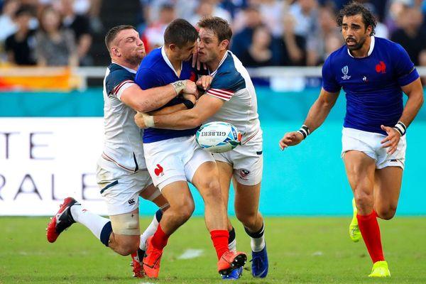 L'arrière Toulousain Thomas Ramos a dû quitter le XV de France sur blessure pendant le match contre les Etats-Unis.