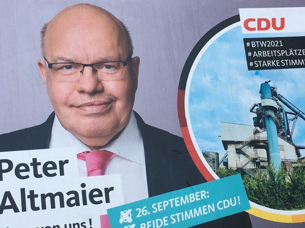 Peter Altmaier ministre allemand CDU de l'Economie, soutien d'Armin Laschet.