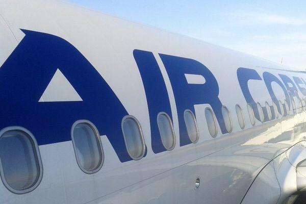 ILLUSTRATION - Un Airbus A320 de la compagnie régionale corse, Air Corsica.
