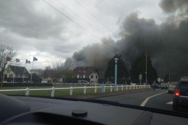Incendie à Colleville-Montgomery