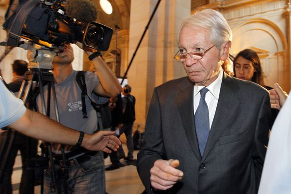 François Debré le 5 septembre 2011 lors du procès de Jacques Chirac