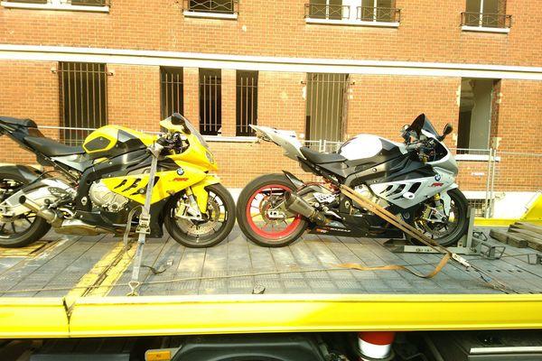Les deux motos ont été placées en fourrière