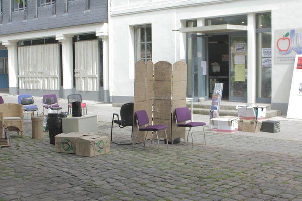 Les locaux de l'antenne régionale déménagés tôt ce matin à Honfleur.