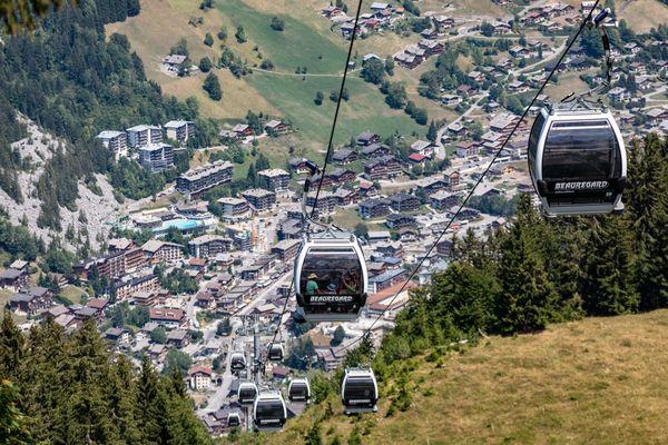 Le station de La Clusaz, en Savoie, à l'été 2018.