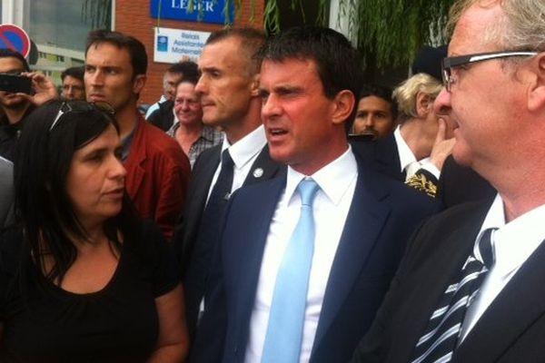 Manuel Valls à Avion ce lundi après-midi.