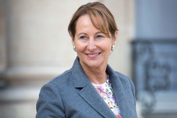Ségolène Royal, à la sortie du conseil des ministres en avril 2017