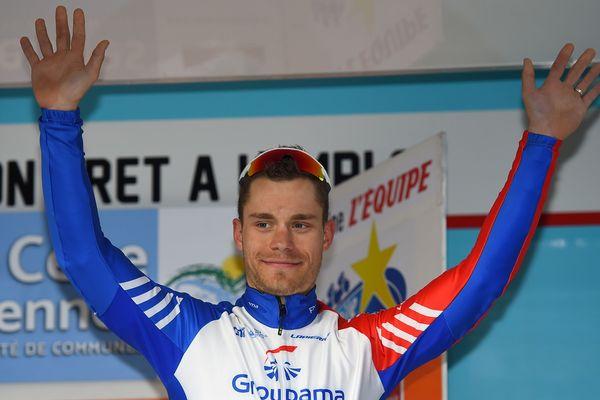 Marc Sarreau, vainqueur de la 3e étape de l'Etoile de Bessèges dans le Gard
