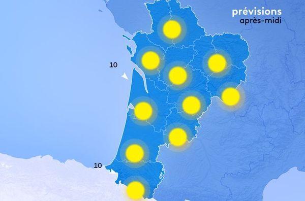grand soleil sur la majeure partie de la région.