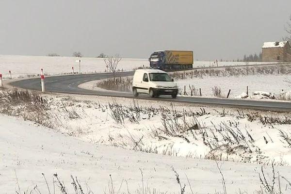 La nuit dernière, plusieurs centimètres de neige sont tombés sur l'Ouest de la Lozère.