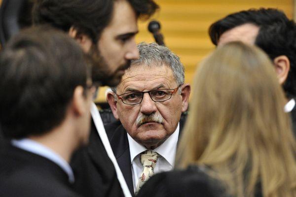 René Marratier lors du délibéré du procès Xynthia aux Sables d' Olonne, le 12 décembre 2014.