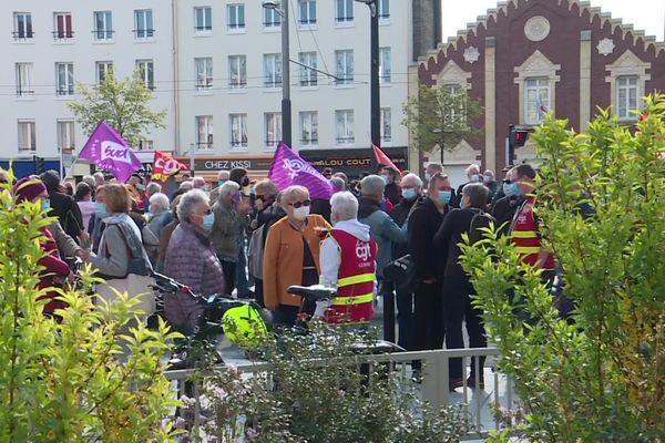 Au Havre les manifestants s'étaient donné rendez-vous devant la Bourse du Travail mais de nombreuses animations étaient aussi prévues devant l'Hôtel de Ville