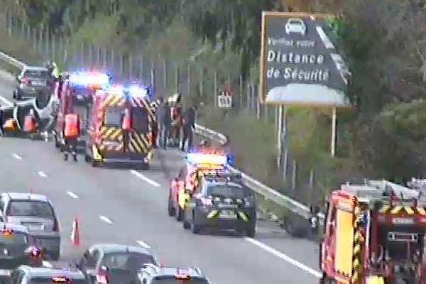 L'accident s'est produit après la sortie Mandelieu.
