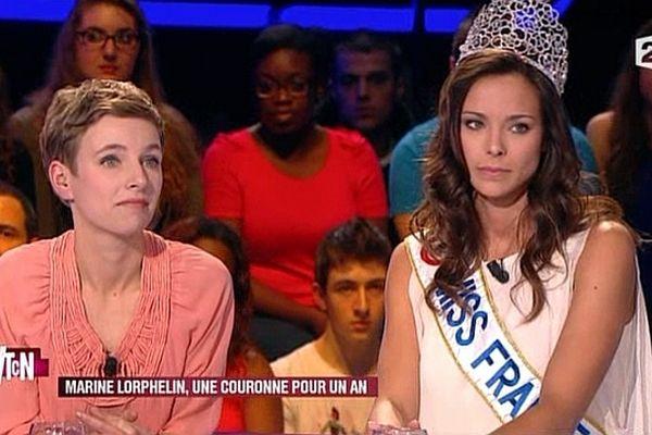 """Miss France  a passé une soirée mi-figue, mi-raisin sur le plateau de l'émission """"Vous trouvez ça normal"""", sur France 2"""