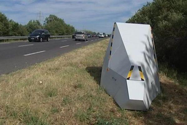 Un radar mobile situé entre Saint-André et Argelès, dans les Pyrénées-Orientales - 10 août 2016