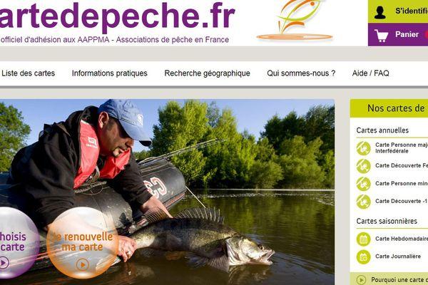 La carte de pêche peut être achetée sur le site http://www.cartedepeche.fr/