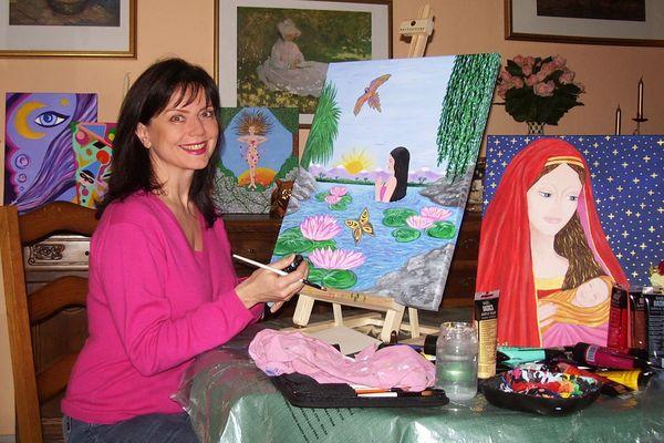 Marylène Bergmann, peintre à ses heures