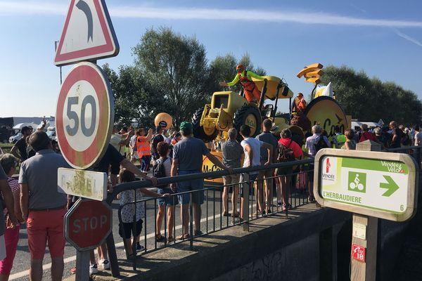 La caravane publicitaire du Tour de France sur l'île de Noirmoutier, le 7 juillet