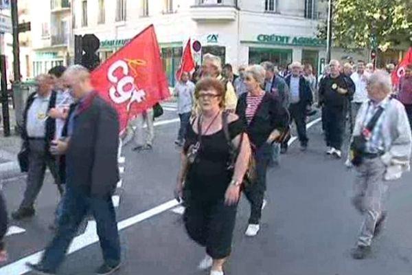 La mobilisation des retraités dans Perpignan
