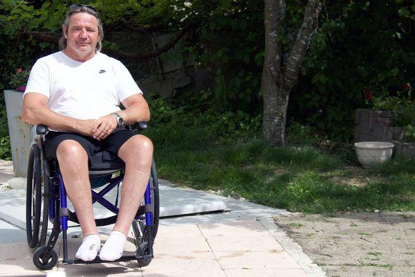 Patrice Mandet, victime d'un accident du travail